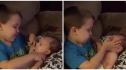 This Boy Singing To His Baby Sister Will Melt Your