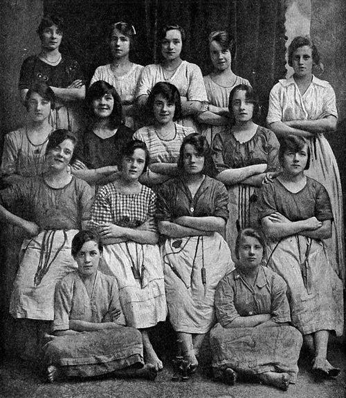 The picture was taken in a Belfast linen mill in