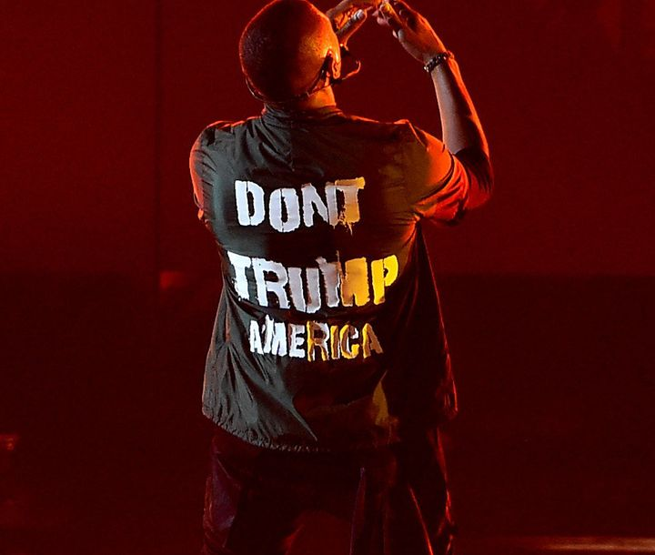 "Usher's ""Don't Trump America"" shirt is available to the public to buy for one week on Teespring."