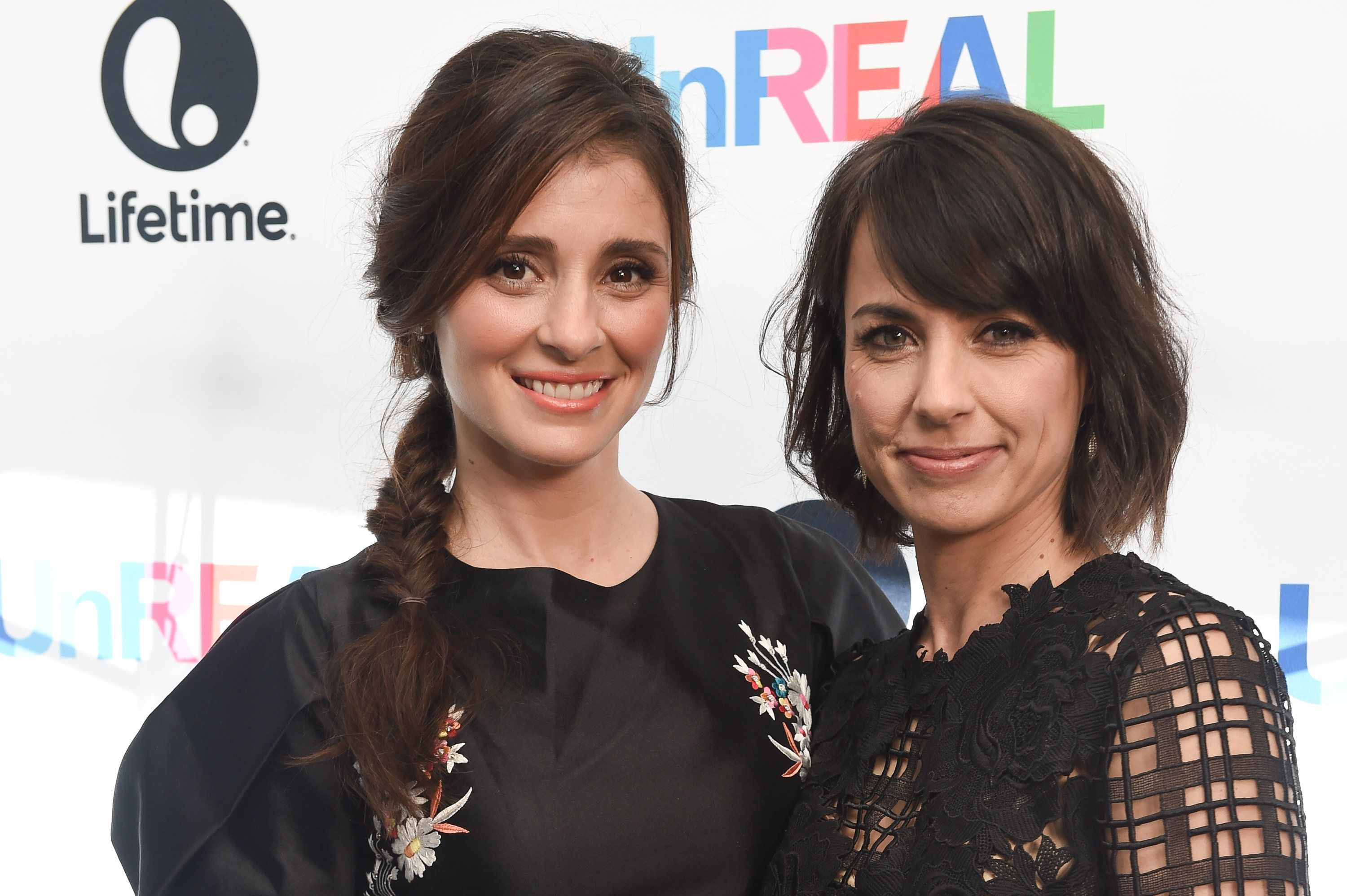 LOS ANGELES, CA - JUNE 04:  Actresses Shiri Appleby (L) and Constance Zimmer arrive at the FYC Screening Of Lifetime's 'UnREAL' at Harmony Gold on June 4, 2016 in Los Angeles, California.  (Photo by Emma McIntyre/Getty Images)