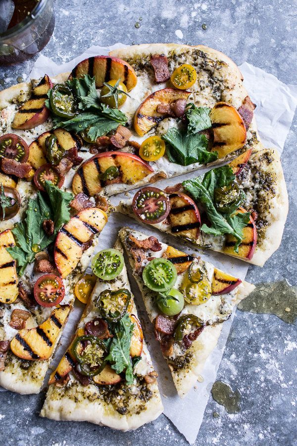 "<strong>Get the <a href=""http://www.halfbakedharvest.com/blt-and-grilled-peach-pizza-my-favorite-links/"" target=""_blank"">BLT"