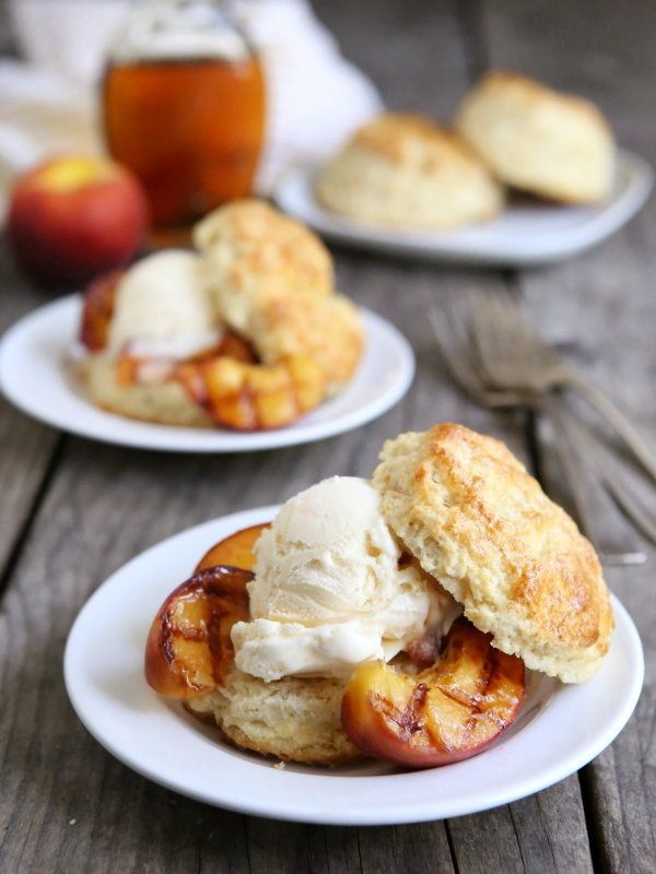 "<strong>Get the <a href=""http://www.completelydelicious.com/2014/07/grilled-peaches-and-ice-cream-shortcakes.html"" target=""_b"