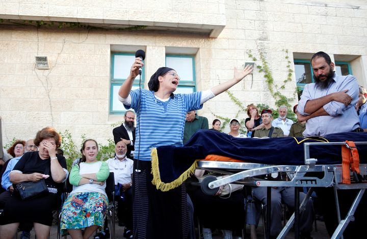 The mother of Hallel Yaffa Ariel, 13, who was killed by a 19-year-oldPalestinian in the West Bank Jewish settlement of