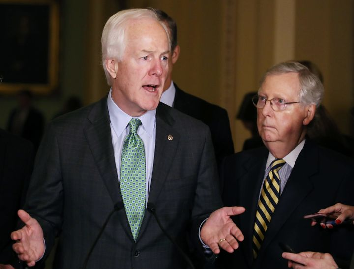 Sen. John Cornyn (R-Texas) has apparently blocked aconstituent on Twitter. It might have something to do with the #DoYo