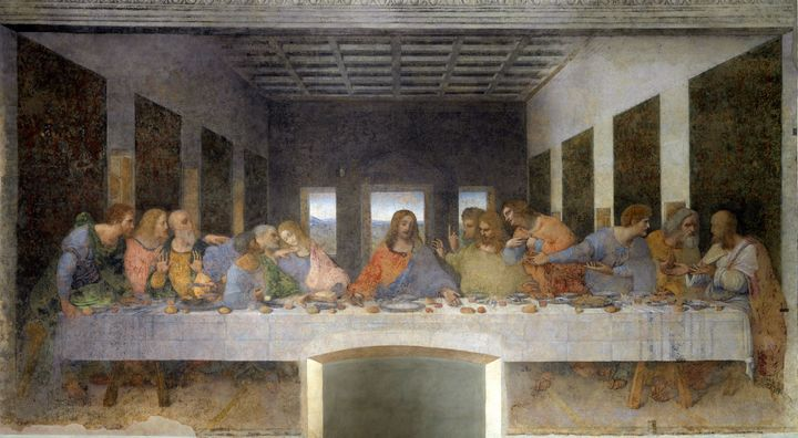 """The Last Supper"" mural is located inside Milan's Santa Maria delle Grazie monastery."