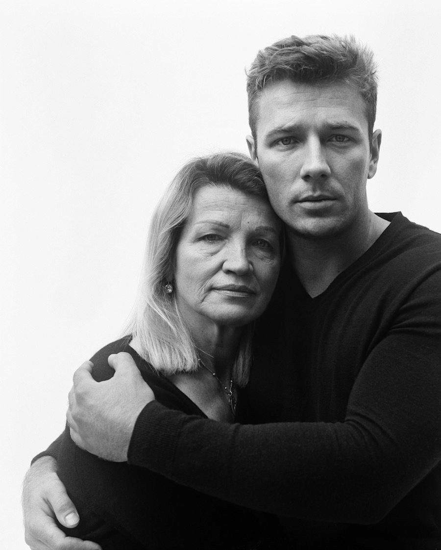 "Branislav Jankic,<i>My Mother Mila with My Brother,</i>2016, C-Print, 35"" x 29.5"", Edition of 3"