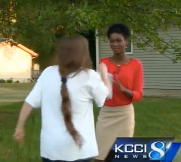 Reporter Emmy Victor remained calm as this woman made racist statements to her.