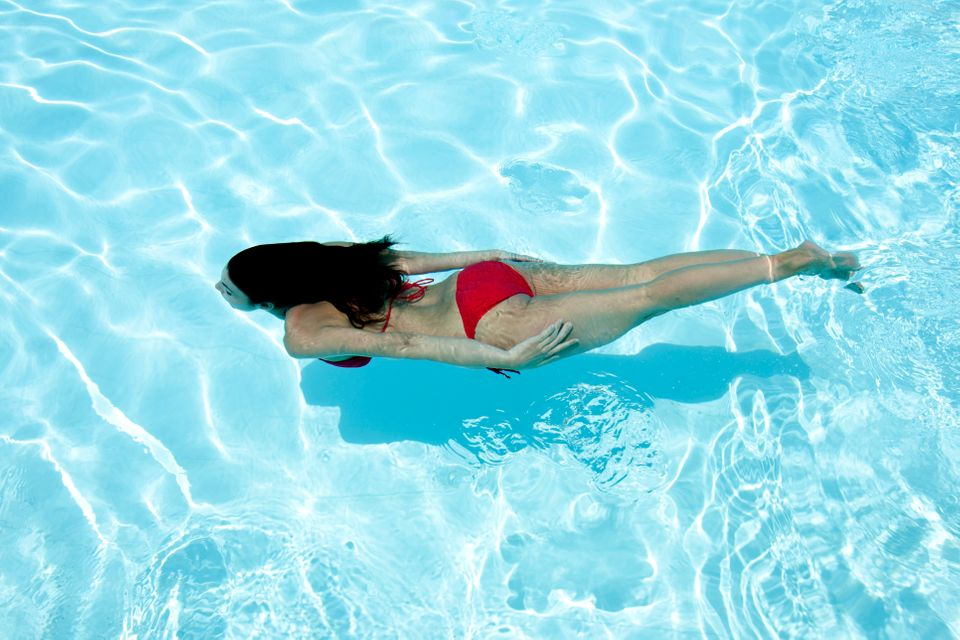 "Feeling hot? Just jump right in. Cool off this summer by taking a dive into the pool, all while <a href=""http://www.shape.com"