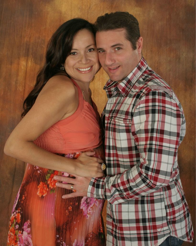 Me and my Husband on October 2, 2010, 3 days before the unfortunate event of the loss of our Isabelle.