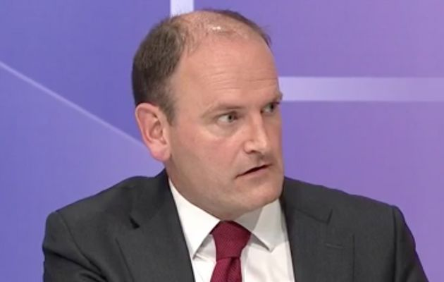 Douglas Carswell did not look pleased whenpressed by Sam Gyimah about the