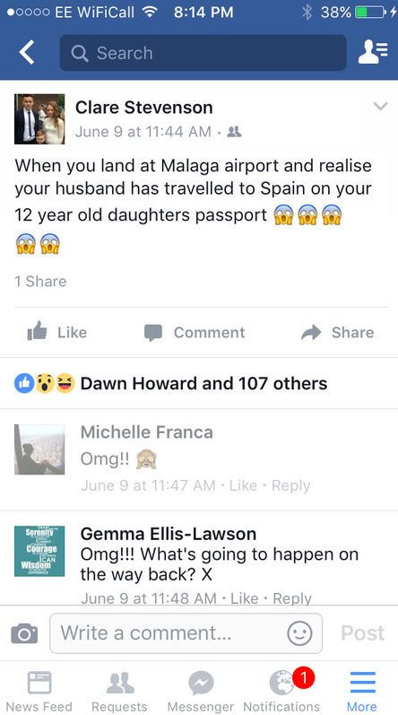 Dad Flew To Spain With Ryanair Using 12-Year-Old Daughter's