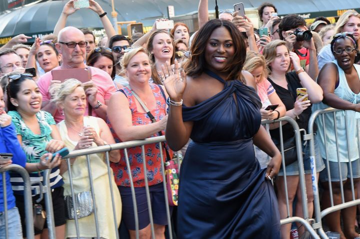 Danielle Brooks, pictured at the Tony Awards on June 12, would apparently like gate agents to show a little more class.