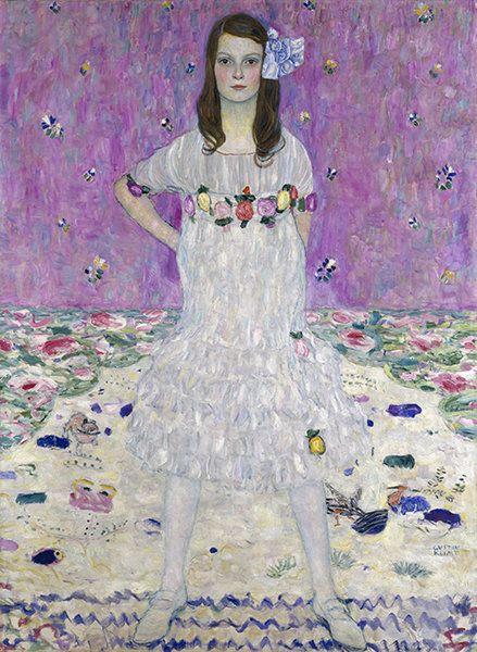 """Gustav Klimt, """"Portrait of Mada Primavesi"""" (1912)."""