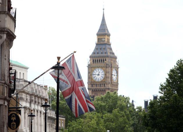 The British union flag near Big