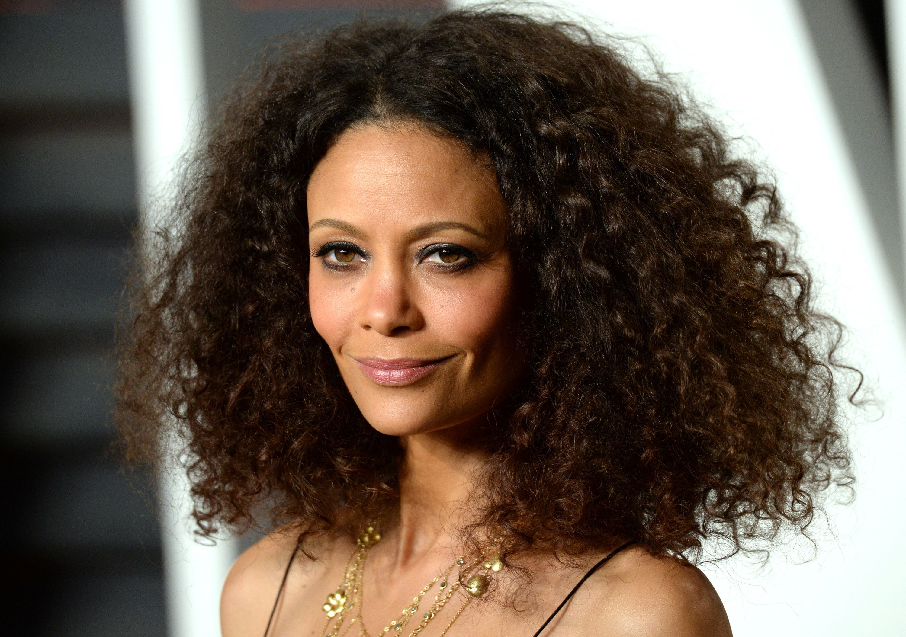 BEVERLY HILLS, CA - FEBRUARY 28:  Thandie Newton attends the 2016 Vanity Fair Oscar Party hosted By Graydon Carter at Wallis Annenberg Center for the Performing Arts on February 28, 2016 in Beverly Hills, California.  (Photo by Anthony Harvey/Getty Images)