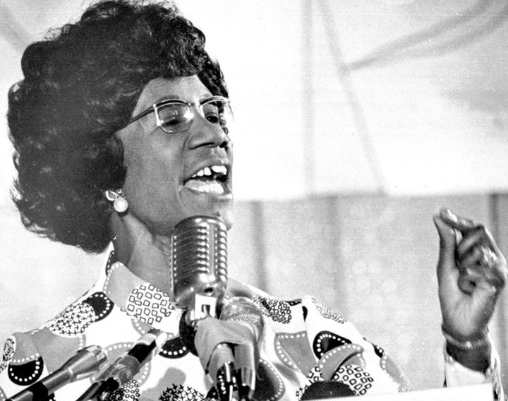 Rep. Shirley Chisholm (D-N.Y.) ran for the Democratic presidential nomination in 1972. She came in fourth place in the delega