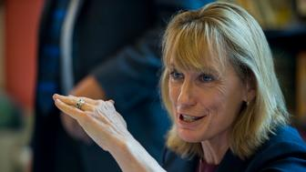 UNITED STATES - AUGUST 26: Gov. Margaret 'Maggie' Hassan, D-N.H., speaks during the breakfast meeting with the State of New Hampshire Executive Council at the Children's Museum of New Hampshire in Dover, N.H., on Wednesday, Aug. 26, 2015. (Photo By Bill Clark/CQ Roll Call)