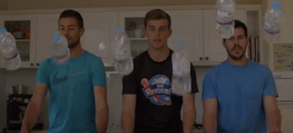 These Dudes Take Water Bottle Flips To A Whole New Level