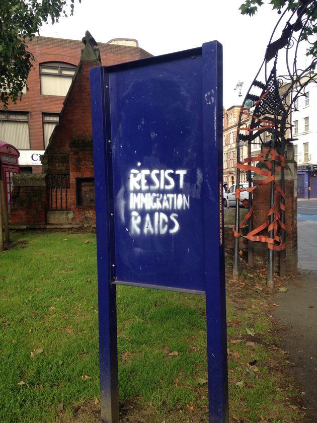 A sign seen in the Whitechapel neighborhood of