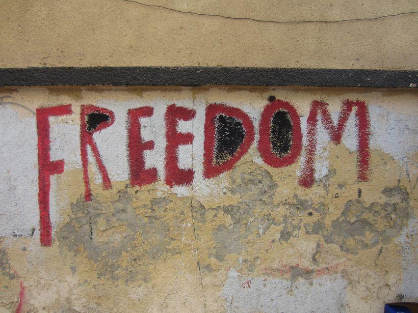Graffiti on Mohamed Mahmoud Street, Cairo, October 2012.