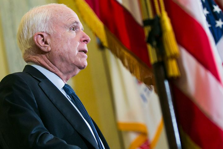 Sen. John McCain (R-Ariz.) is seen in April 2016.
