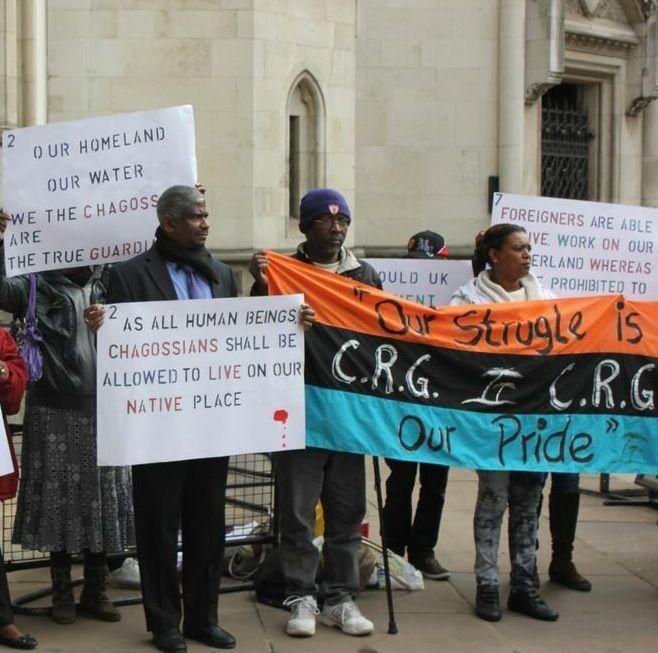 London protest.