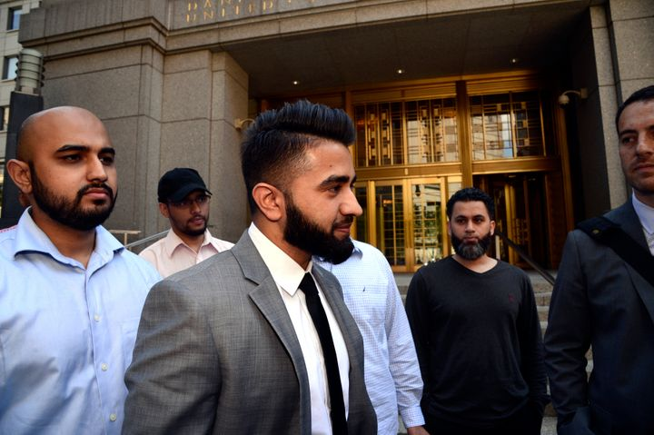 Police Officer Masood Syed leaves Manhattan Federal Court on Wednesday, June 22, 2016.