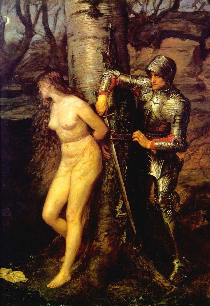 "John Everett Millais, ""The Knight Errant,"" 1870"