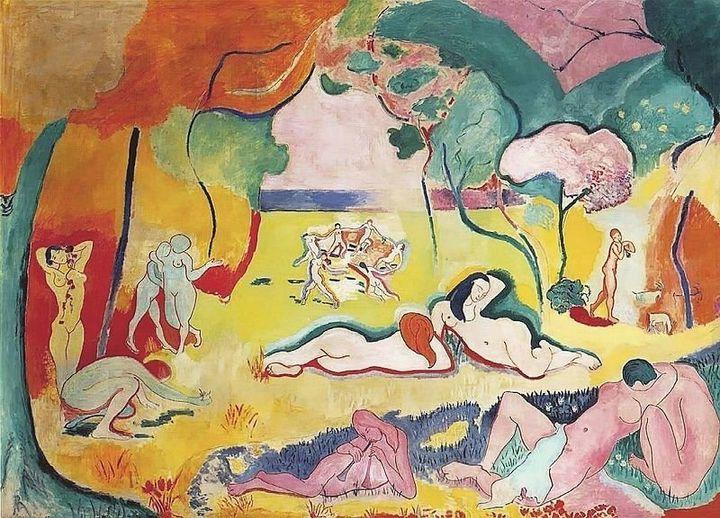 """Henri Matisse, """"Le bonheur de vivre,"""" 1905"""