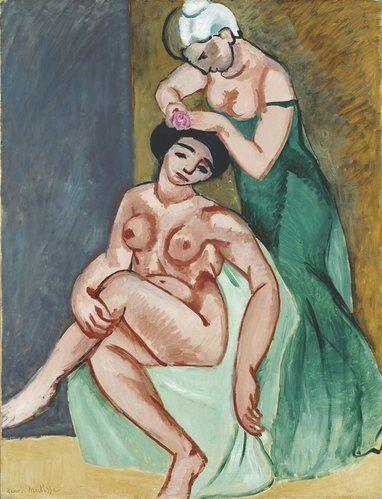 "Henri Matisse, ""La coiffure,"" 1907"