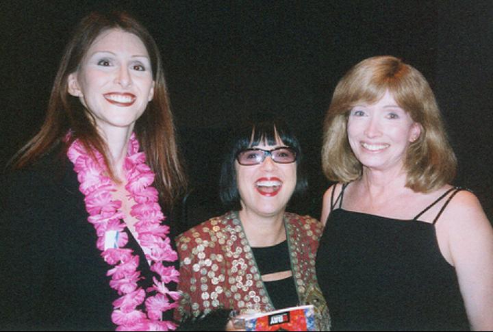 Andrea James, Eve Ensler, Lynn Conway, 2004.