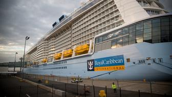 Royal Caribbean Cruises Ltd.'s Quantum-class cruise ship, the Anthem of the Sea, sits moored at the Cape Liberty Cruise Port in Bayonne, U.S., on Friday, Oct. 6, 2015. Royal Caribbean announced last week that it has made an agreement with the German firm Meyer Werft GmbH to order a fifth Quantum-class ship for delivery in the Fall of 2020. Photographer: Michael Nagle/Bloomberg via Getty Images
