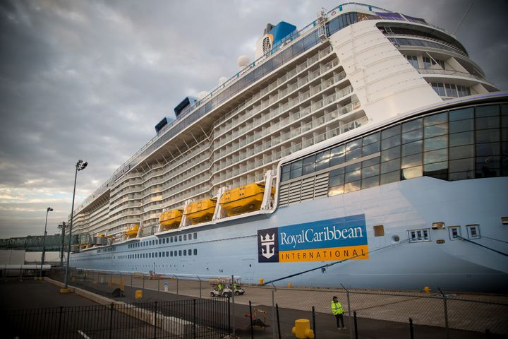 The Anthem of the Seas moored at its port in Bayonne, New Jersey, in 2015.