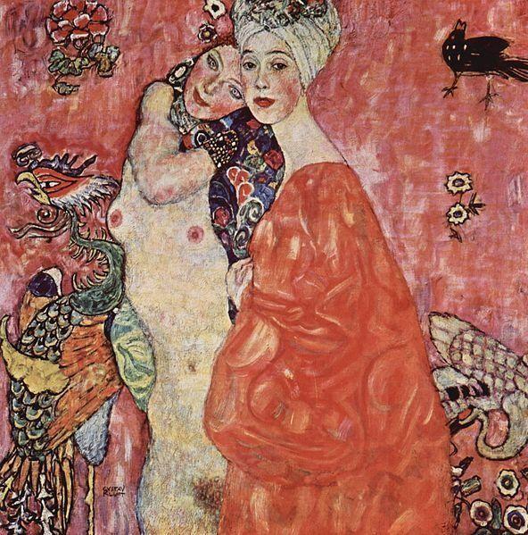 """Gustav Klimt, """"Die Freundinnen,"""" 1916"""