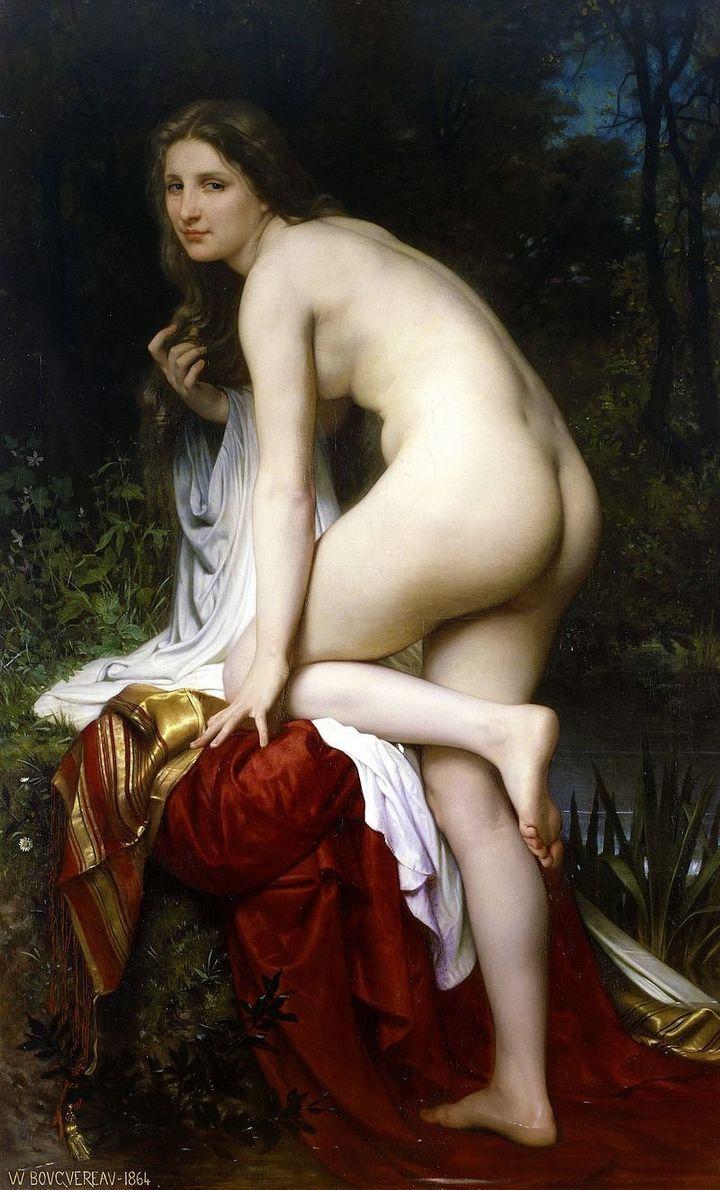 "William-Adolphe Bouguereau, ""Baigneuse,"" 1825"