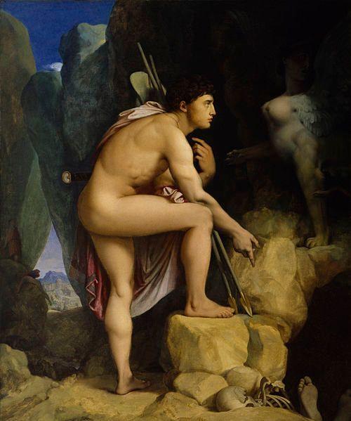 "Jean Auguste Dominique Ingres, ""Oedipus and the Sphinx,"" 1808"