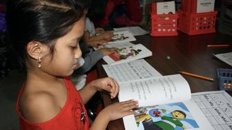 Seventy percent of Franklin Elementary School's kindergarten class qualifies for language services because they do not speak English fluently. More than 70 languages are represented across the district.
