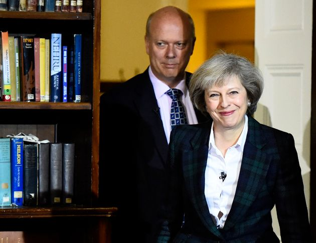 Theresa May, pictured with Chris Grayling, is the front-runner to become the next leader of the Tory