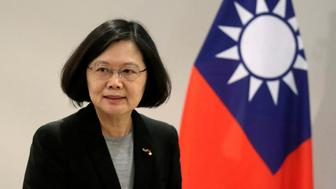 Taiwan's President Tsai Ing-wen arrives before an interview in Luque, Paraguay, June 28, 2016. REUTERS/Jorge Adorno