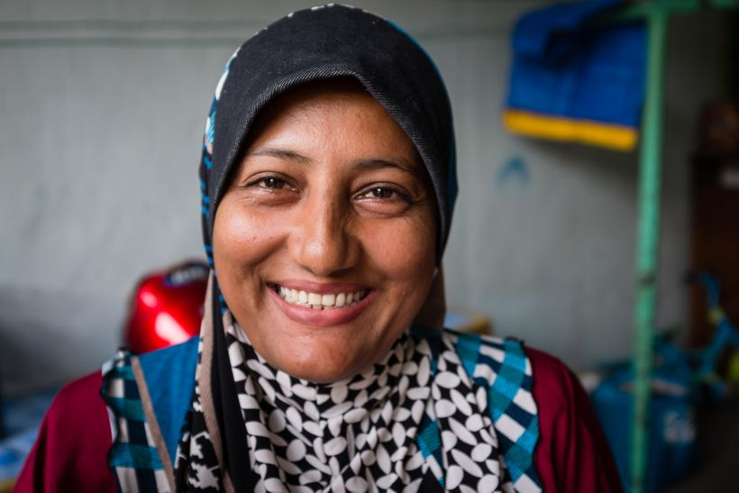 We only knew her by 'Yasin's wife'. Yasin is one of the community leaders. However, she was the one who led the conversation