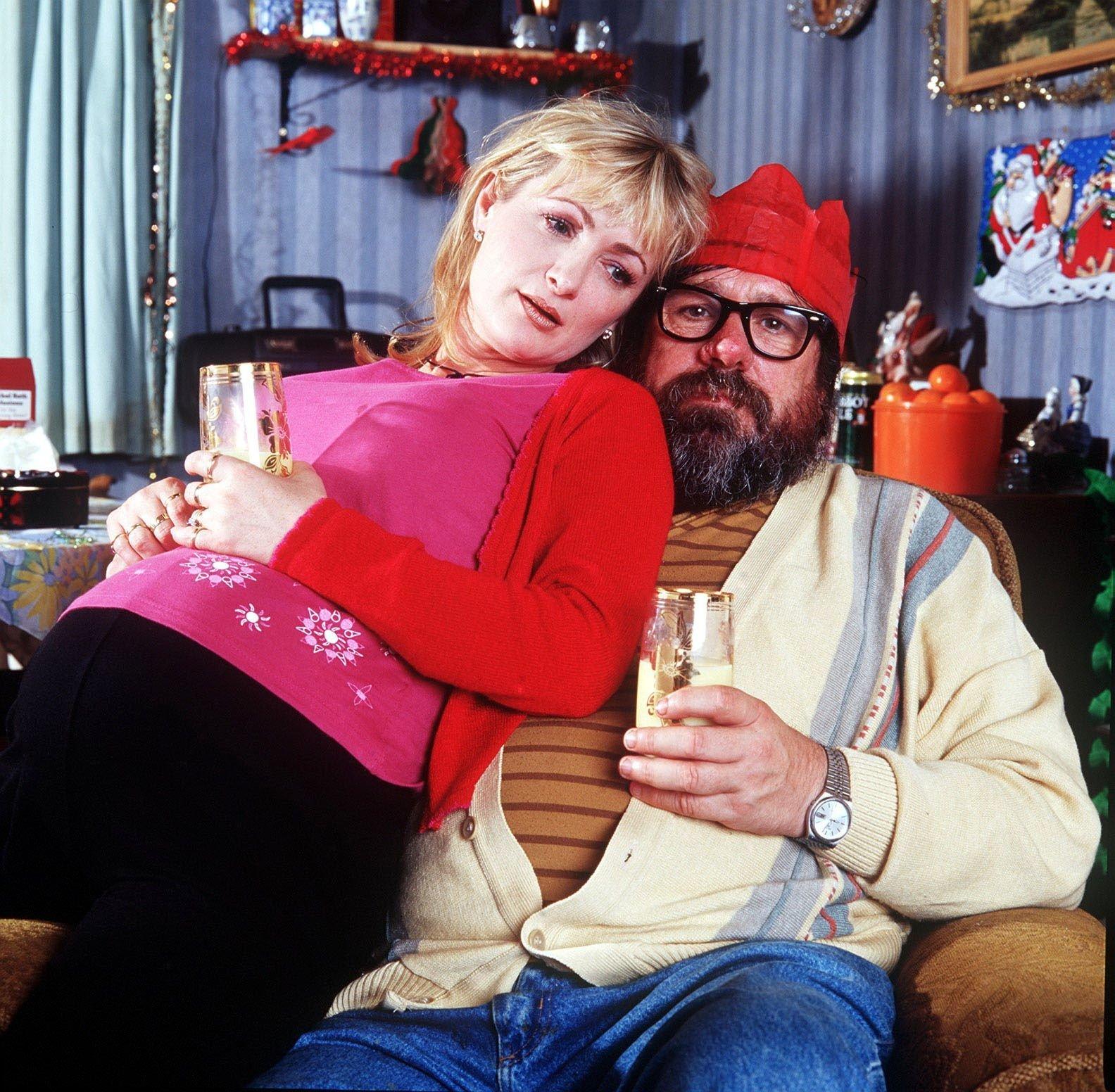 Ricky Tomlinson and Caroline Aherne starred together on 'The Royle