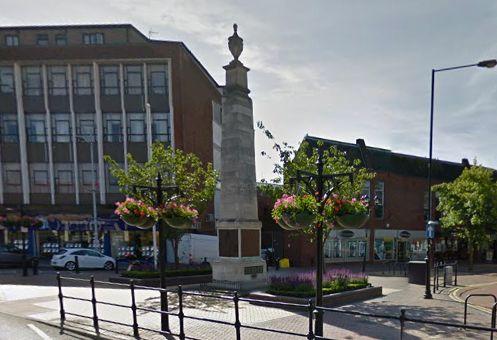 The war memorial in