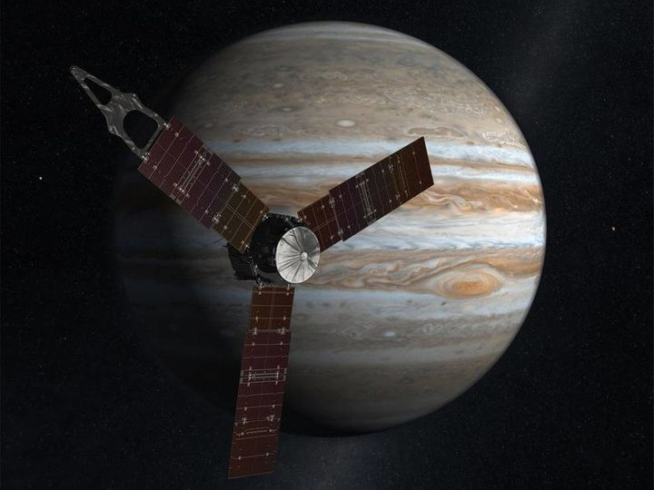 NASA's solar-powered Juno spacecraft reached Jupiter on July 4, 2016.