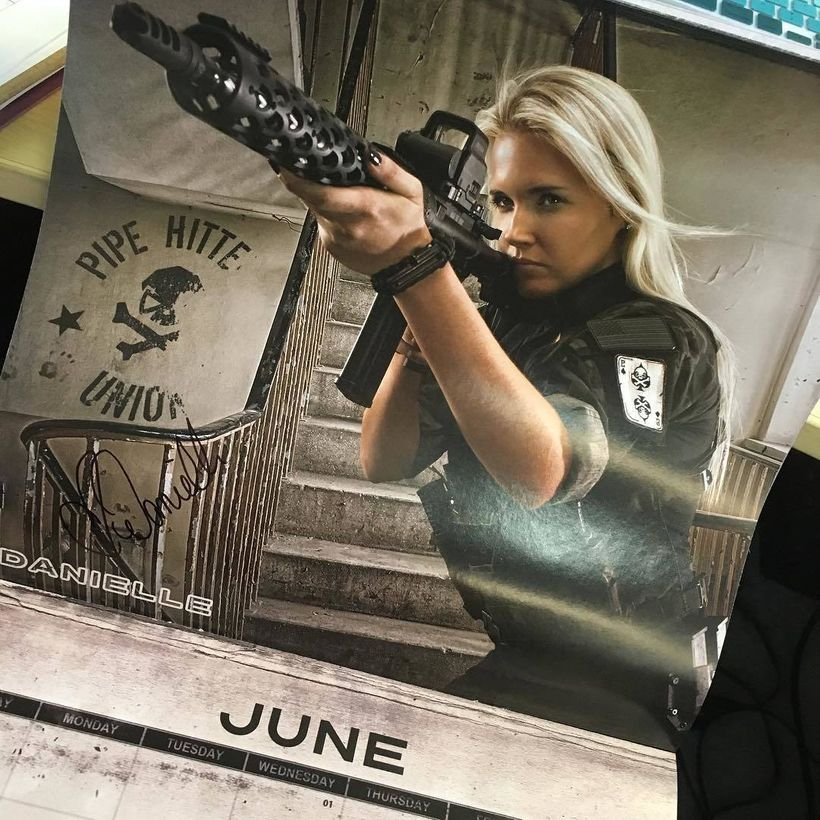 """Supplying Bauer's weapon is Dragon Armory's <a href=""""https://www.facebook.com/pistolpackingprincess/?hc_location=ufi"""" target="""