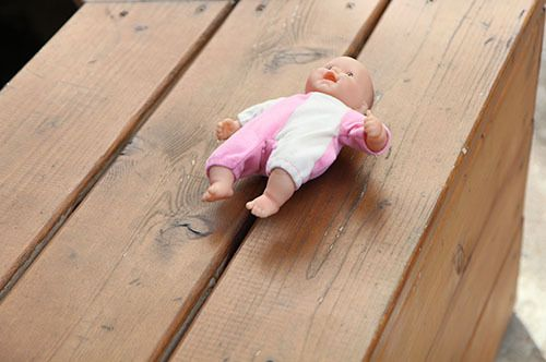 <i>Photo by Nancy A. Ruhling</i><br><strong>Ani's doll, abandoned.</strong>