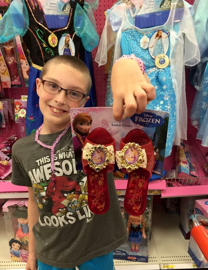 Just before 4th grade&nbsp;- he still loves the princess aisle best of all. <br />And that's okay with us.
