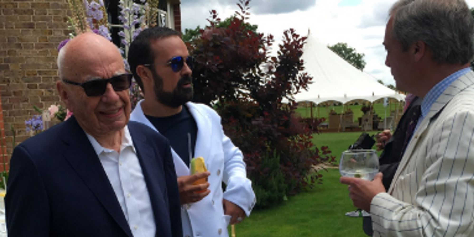 Lily Allen Tweets Pictures Of Nigel Farage, Rupert Murdoch At Lavish Garden Party