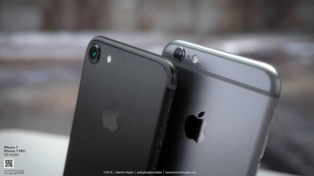 Apple iPhone 7 Pictures By Artist Reveal Black Design, New Touch ID Sensor And Bigger