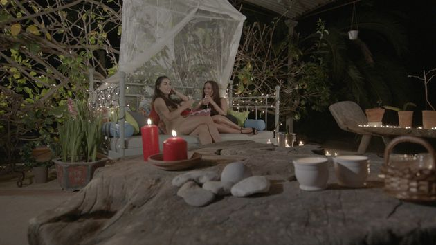 Katie and Sophie enjoyed a cosy date on 'Love