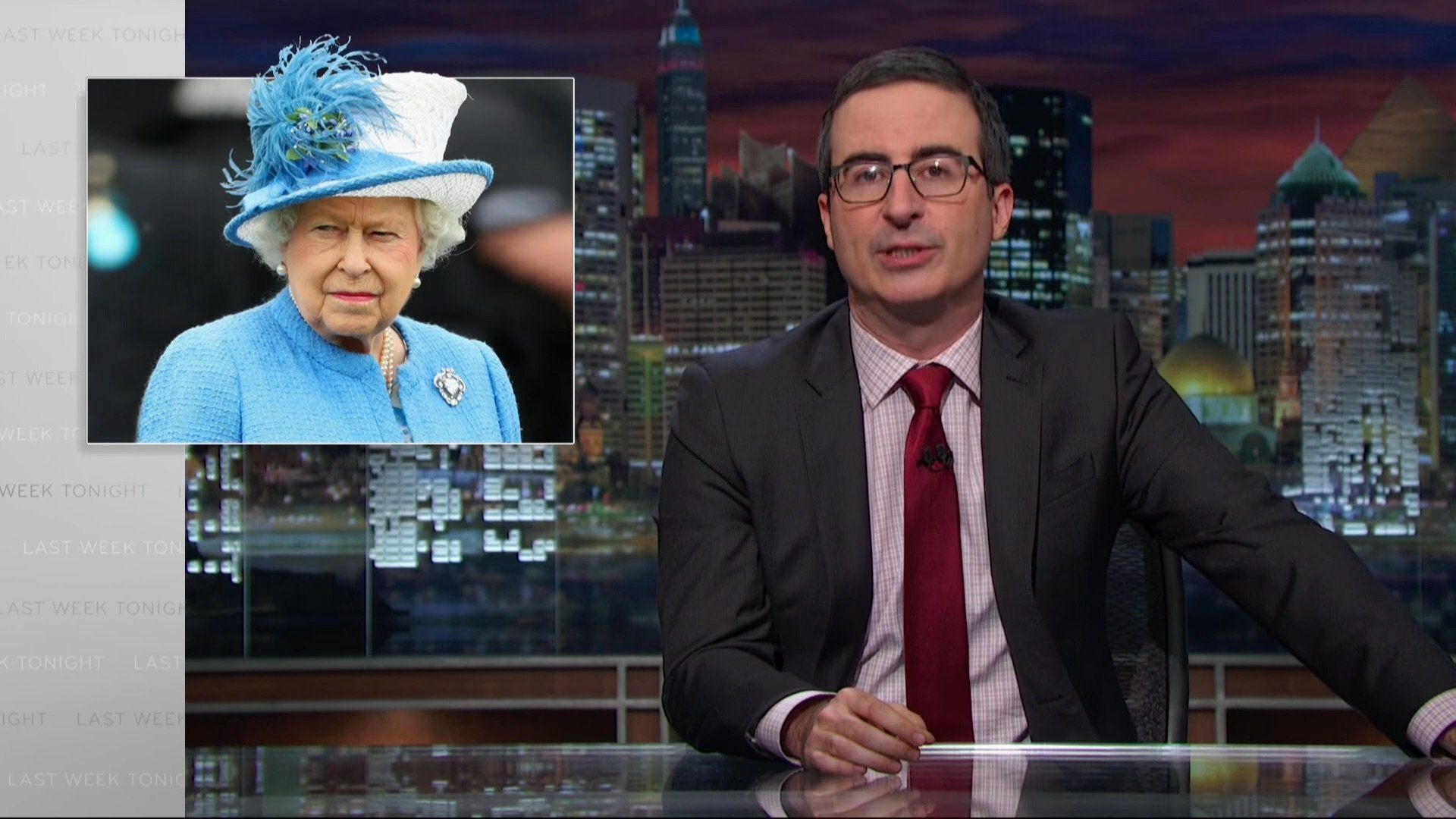 "John Oliver on ""Last Week Tonight."""